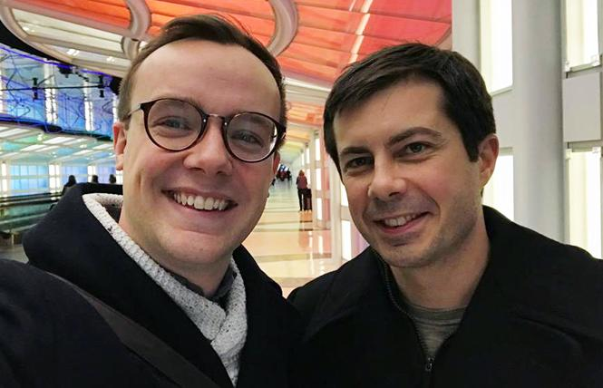 Democratic presidential candidate Pete Buttigieg, right, and his husband, Chasten Glezman. Photo: Courtesy Facebook