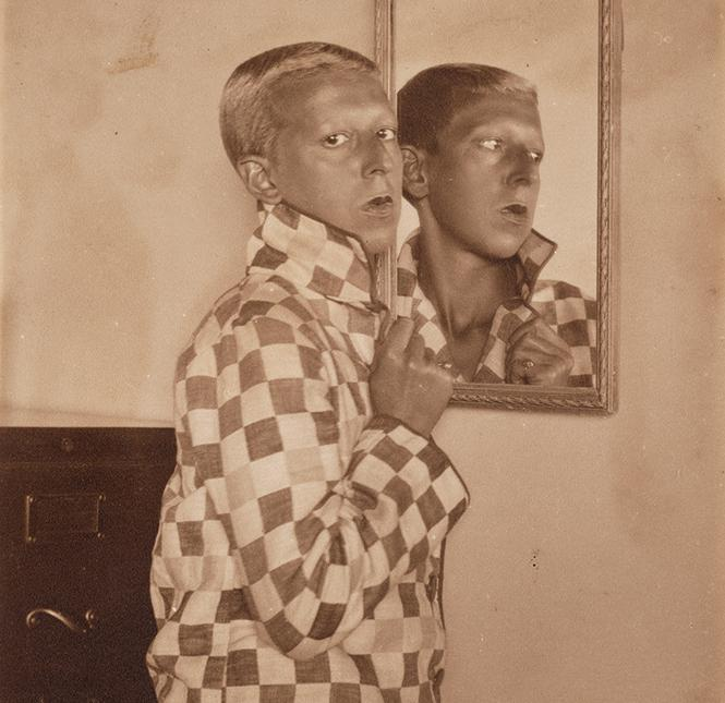 "Claude Cahun (Lucy Schwob) and Marcel Moore (Suzanne Malherbe), ""Untitled"" (1928). Gelatin silver print. San Francisco Museum of Modern Art. © Estate of Claude Cahun. Photo: Don Ross"