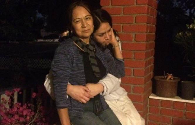 Christina Lopez, who was released from immigration detention last week, with her mother in an undated photo. Photo: Courtesy Transgender Law Center