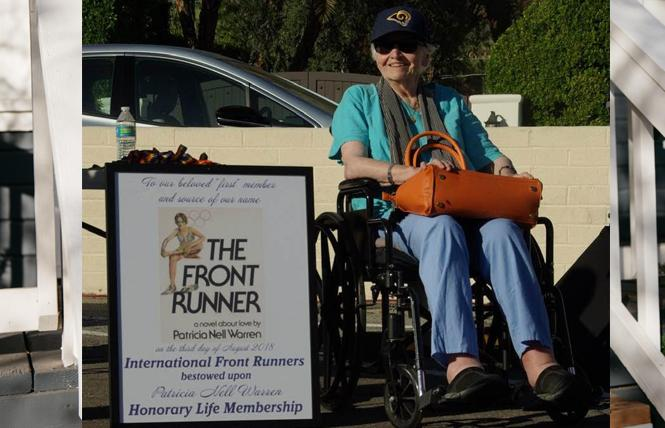 Patricia Nell Warren was inducted as a lifetime member of the International Front Runners last October.