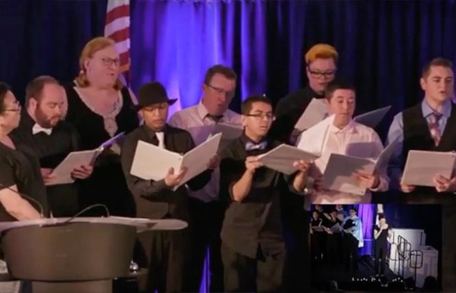 Members of the New Voices Bay Area TIGQ Chorus performed at last year's Transgender Day of Remembrance. Photo: Courtesy CMC