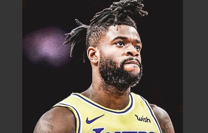 Los Angeles Lakers guard Reggie Bullock spent part of the NBA's All-Star weekend talking with LGBT youth and allies.