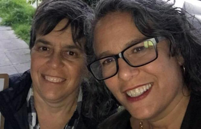 Alison Bernstein, left, and her wife, Judy Appel, are in recovery. Photo: Courtesy Facebook