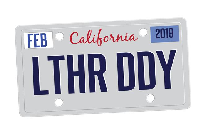 "A vanity plate reading ""LTHR DDY"" was rejected by the state Department of Motor Vehicles. Illustration: Ernesto Sopprani"