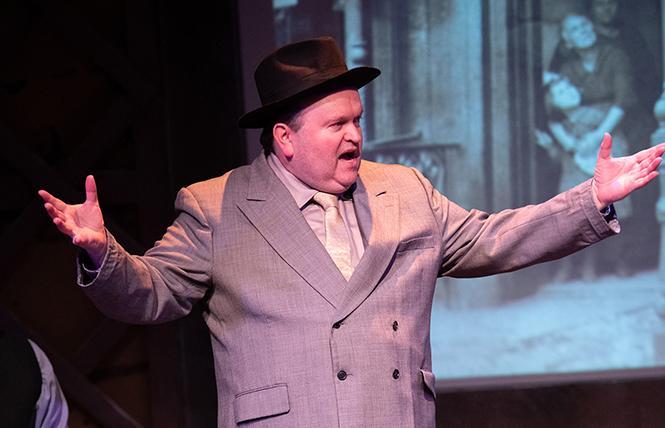 """Colin Thomson as Fiorello La Guardia in 42nd Street Moon's """"Fiorello!"""" Photo: Ben Krantz Studio"""