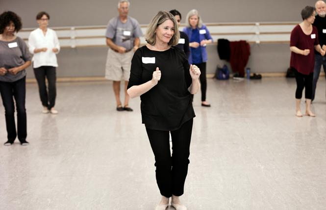 San Francisco Ballet instructor Cecelia Beam teaches classes for people living with Parkinson's disease. Photo: Chris Hardy
