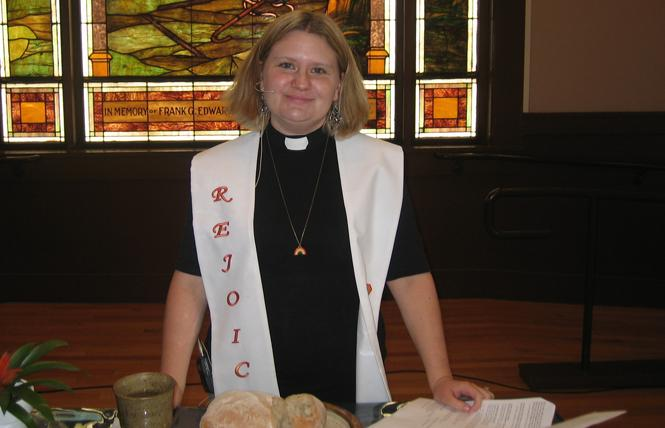 Bethany United Methodist Church pastor Sadie Stone talked about the recent denomination vote during Sunday's service. Photo: Brian Bromberger