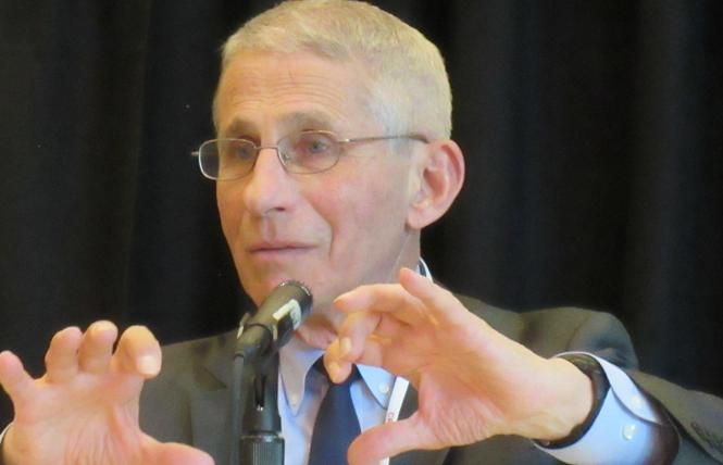 Dr. Anthony Fauci talked about a new national HIV plan at the Conference on Retroviruses and Opportunistic Infections in Seattle Tuesday. Photo: Liz Highleyman