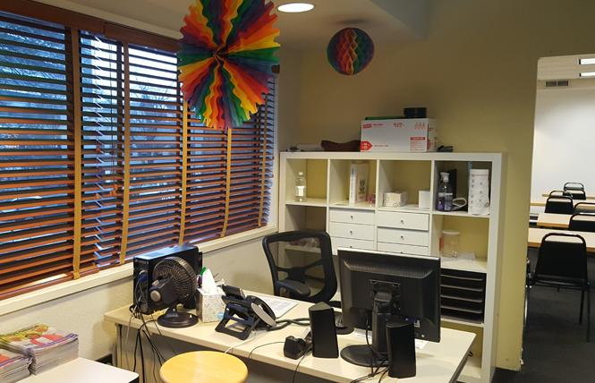The Rainbow Community Center was open late Monday afternoon, but no one was at the front desk. Photo: Cynthia Laird