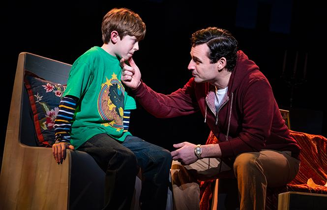 "Thatcher Jacobs and Max von Essen, from the First National Tour of ""Falsettos."" Photo: Joan Marcus"