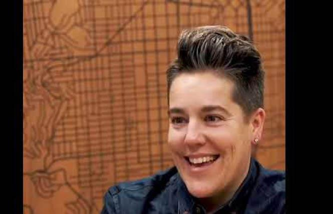 Michelle Skoor, vice president of operations at Lesbians Who Tech + Allies. Photo: Courtesy YouTube