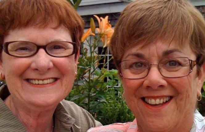Mary Walsh, left, and her wife, Bev Nance. Photo: Courtesy Facebook