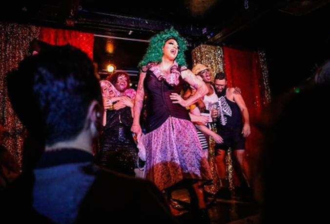 A festive drag show at The Stud