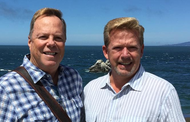 Terry Wicks, left, with his husband, Michael Draper. Photo: Courtesy Terry Wicks