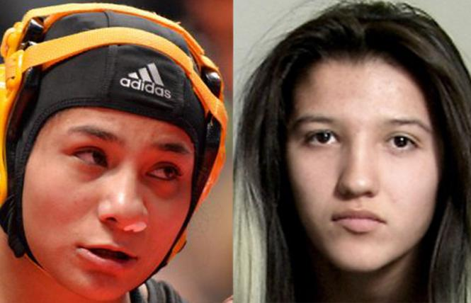 High school wrestlers Angel Rios, left, and Jaslynn Gallegos medaled in Colorado state championships.