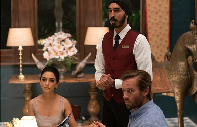 "Nazanin Boniadi, Dev Patel and Armie Hammer in director Anthony Maras' ""Hotel Mumbai."" Photo: Bleecker Street"