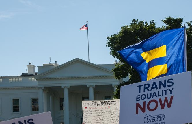 Trans and allied groups rallied outside the White House last fall. Photo: Rudy K. Lawidjaja