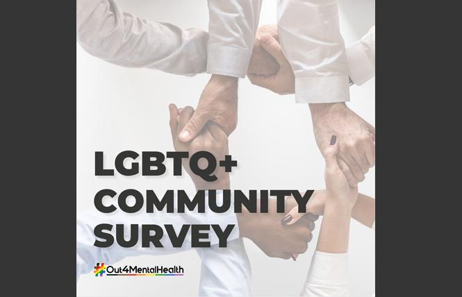 People can now take a mental health survey that seeks responses from LGBTQ people. Photo: Courtesy #Out4MentalHealth project