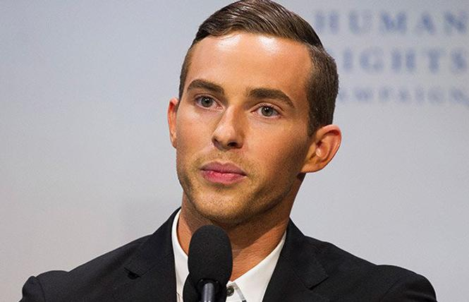 Olympic medalist Adam Rippon will be honored by the San Francisco Gay Men's Chorus. Photo: Courtesy AP