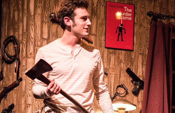 "Jake Soss as Clifford Anderson in Ira Levin's classic thriller ""Deathtrap,"" a Theatre Rhinoceros production at the Gateway Theatre. Photo: David Wilson"