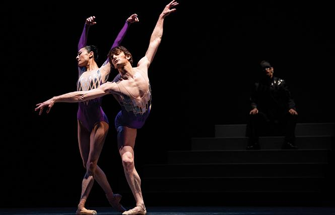 "Yuan Yuan Tan and Aaron Robison in Yuri Possokhov's ""two united in a single soul."" Photo: Erik Tomasson"