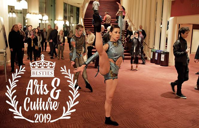 Art Haus dancers perform in the lobby as part of the Stravinsky Festival last fall at Davies Symphony Hall, chosen as Best Classical Music Venue by Besties 2019 voters. Photo: Courtesy SFS
