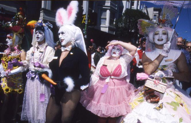 The Sisters of Perpetual Indulgence celebrated their 20th anniversary April 4, 1999 by closing down Castro Street for their Easter party. Photo: Rick Gerharter