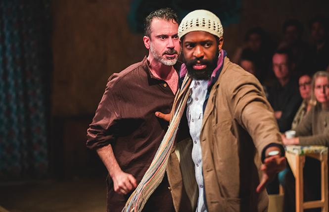 "Salar (BenTurner) and Mohammed (Jonathan Nyati) in ""The Jungle,"" now playing the Curran. Photo: Little Fang"