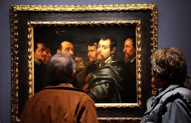 "The earliest known self-portrait of Peter Paul Rubens (ca. 1602-05), ""Self-Portrait in a Circle of Friends at Mantua"" is part of the exhibit ""Early Rubens,"" now showing at the Legion of Honor. Photo: Rick Gerharter"