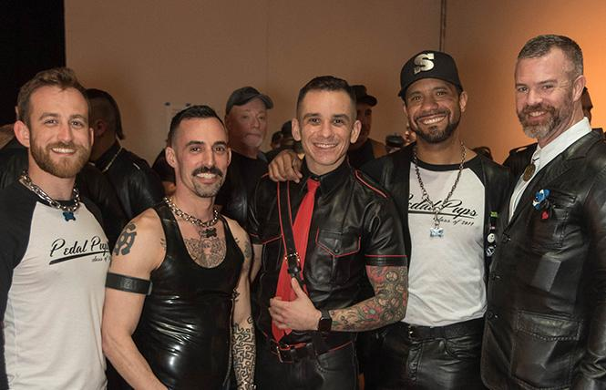 Attendees at the March 2019 Mr SF Leather contest prove that an event can be both cruisy and community-focused. Photo: Rich Stadtmiller