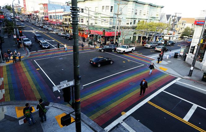 The intersection of 18th and Castro streets, long considered the heart of the San Francisco LGBT community, would be part of the Castro LGBT Cultural District. Photo: Rick Gerharter