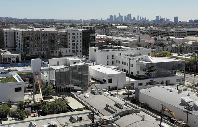 The Los Angeles LGBT Center opened its new two-acre Anita May Rosenstein Campus this month. It includes a senior community center and youth housing. Next year affordable senior apartments are expected to open. Photo: Courtesy Los Angeles LGBT Center.