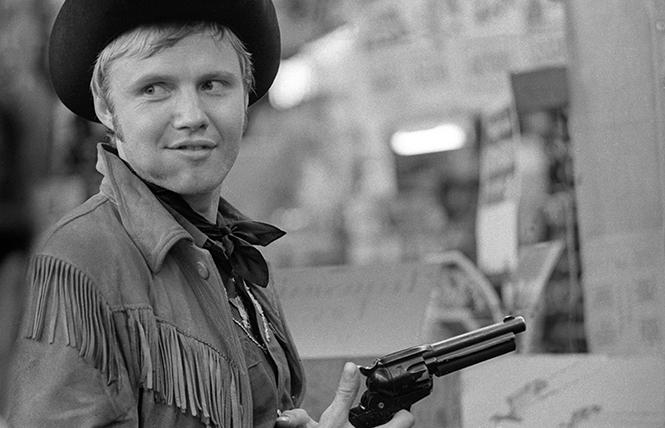 "Jon Voight as the hustler Joe Buck in director John Schlesinger's ""Midnight Cowboy."""