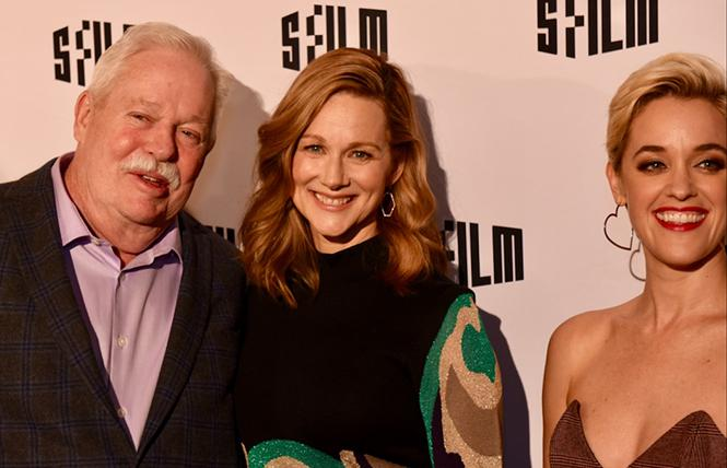 rmistead Maupin, Laura Linney, and showrunner-executive producer Lauren Morelli enjoy the 2019 SFFILM Festival opening-night party at the Regency Center. Photo: Steven Underhill