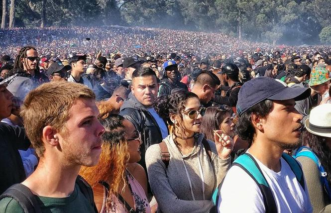 People enjoy 4/20 at Hippie Hill in Golden Gate Park. Photo: Courtesy 420hippiehill.com