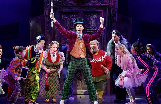 "Noah Weisberg as Willy Wonka (center) in ""Charlie and the Chocolate Factory"" at the Golden Gate Theatre. Photo: SHN"