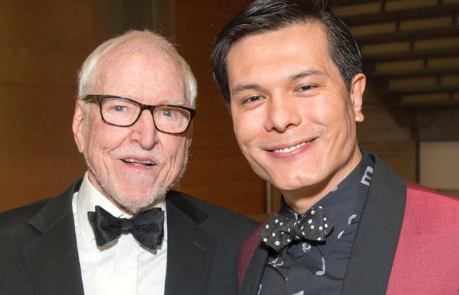 Former ambassador James C. Hormel, left, and his husband, Michael Nguyen, will be honored by the Community Music Center. Photo: Courtesy CMC
