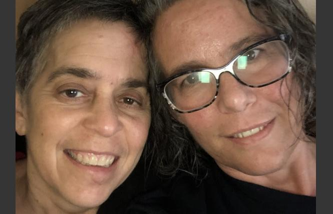 Alison Bernstein, left, and Judy Appel continue to recover after being hit by a car in January. Photo: Courtesy Judy Appel