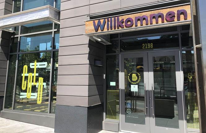 Willkommen, a new beer hall from San Francisco-based Black Hammer Brewing, expects to open in the Castro next week. Photo: Matthew S. Bajko