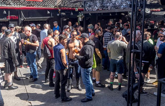 A large crowd was in attendance both inside and outside the SF Eagle at the recent 6-year anniversary block party. photo: Rich Stadtmiller