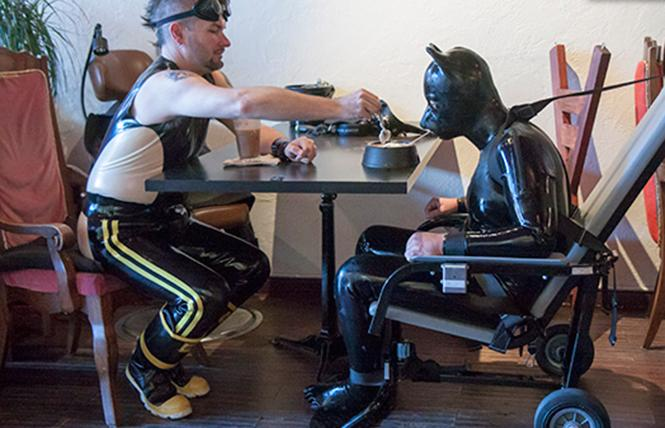 Kinky tea at Wicked Grounds. photo: Serious Male Bondage
