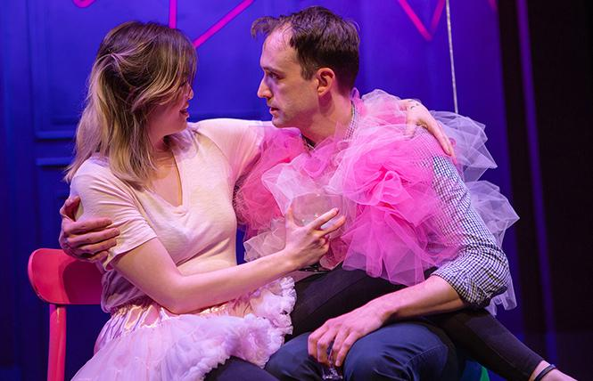 """Best friends Laura (Ruibo Qian) and Jordan (Kyle Cameron) share a moment and joke about getting married in """"Significant Other."""" Photo: Jessica Palopoli"""