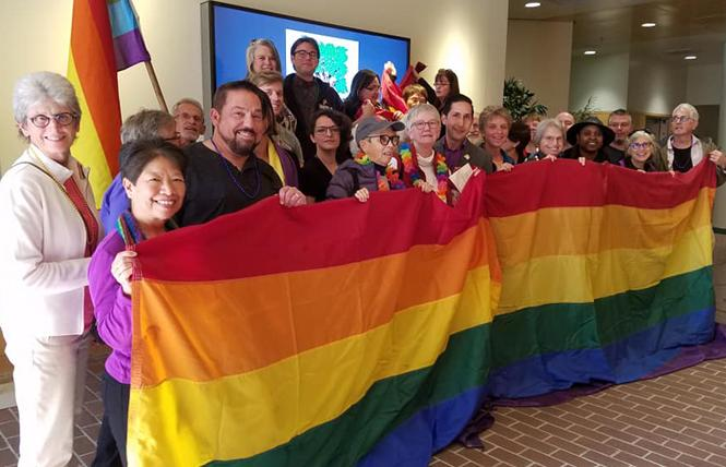 LGBT leaders and allies celebrated the Walnut Creek City Council's vote earlier this month to fly the rainbow flag at City Hall for the first time.