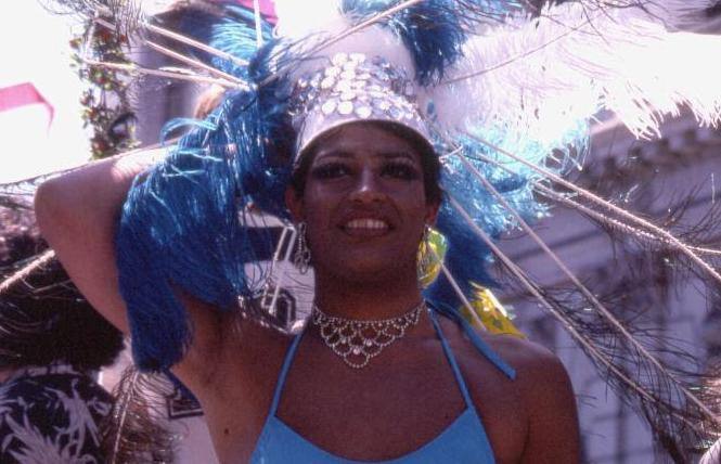 A reveler celebrates at the 1978 San Francisco Gay Freedom Day. Photo: Crawford Barton/Courtesy Collection of the GLBT Historical Society
