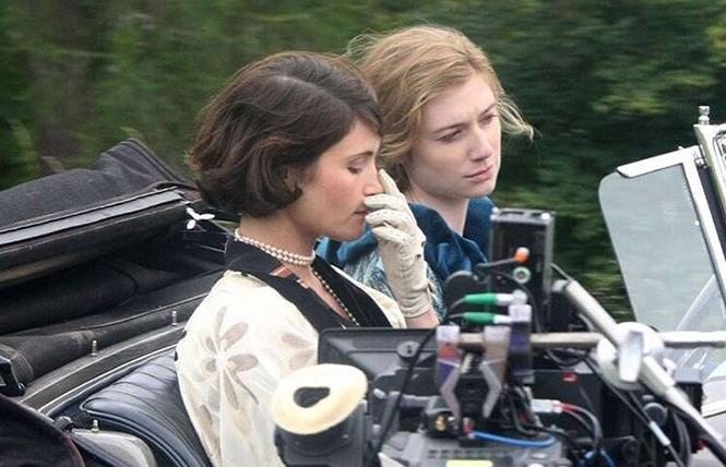 "Filming Gemma Arterton as Vita Sackville-West, and Elizabeth Debicki as Virginia Woolf, in director Chanya Button's ""Vita & Virginia."" Photo: IMDB"