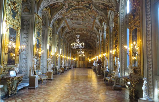 The Hall of Mirrors graces the Palazzo Doria Pamphilj. Photo: Charlie Wagner