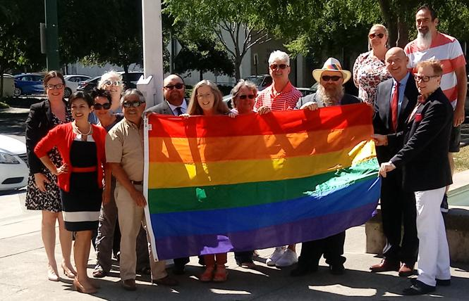 Vallejo officials and community members celebrated Pride Month last year. Photo: Courtesy Solano Pride Center
