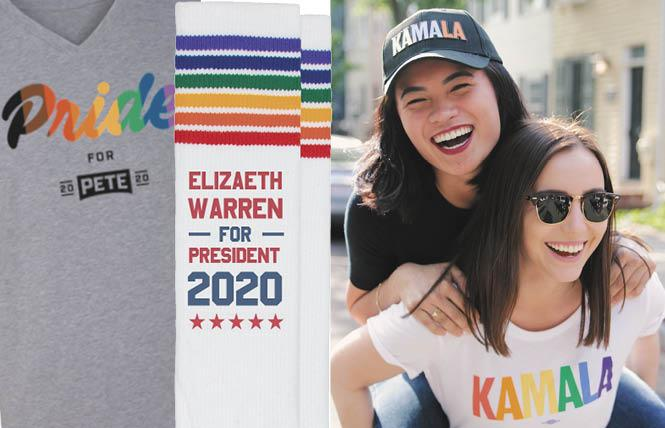 Pete Buttigieg, Elizabeth Warren, and Kamala Harris are three of the many Democratic presidential candidates that have Pride-themed gear on their websites.