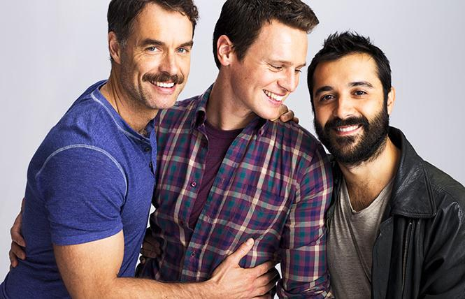 "Jonathan Groff, Frankie J. Alvarez, and Murray Bartlett starred in classic LGBTQ show ""Looking."" Photo: HBO"