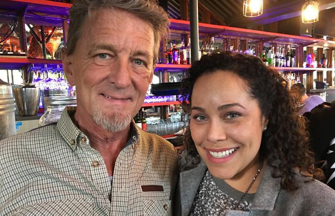 Cannabis entrepreneur Terrance Alan, left, meets SF Office of Cannabis director Marisa Rodriguez. Photo: Sari Staver